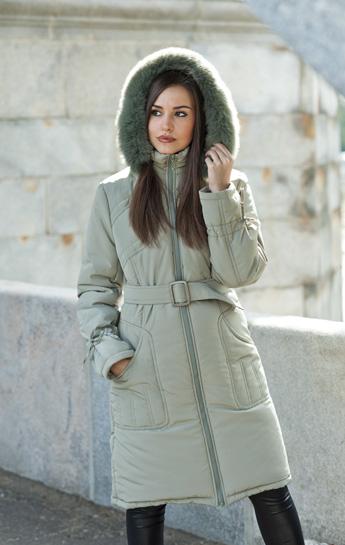 верхняя женская одежда - Зимнее полупальто, модель Дина.
