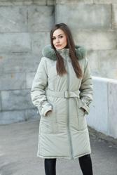 верхняя женская одежда - Зимнее полупальто, модель Дина